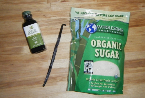 organic vanilla syrup ingredients