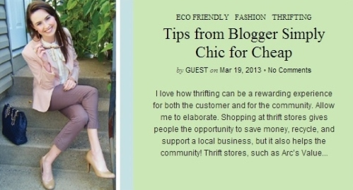 http://blog.arcsvaluevillage.org/2013/03/tips-from-blogger-simply-chic-for-cheap/