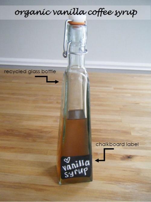 organic vanilla syrup recipe