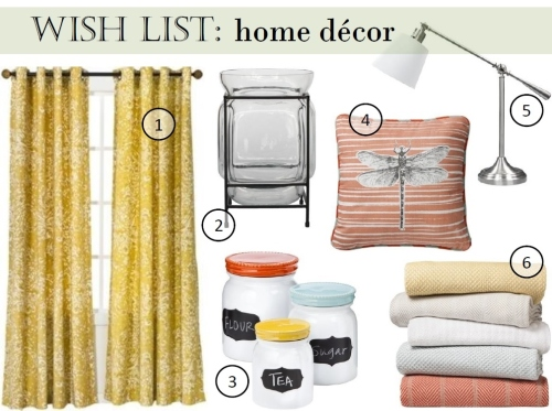 target home decor wish list