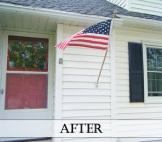 DIY painted shutters + front door