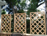 DIY privacy lattice candle wall