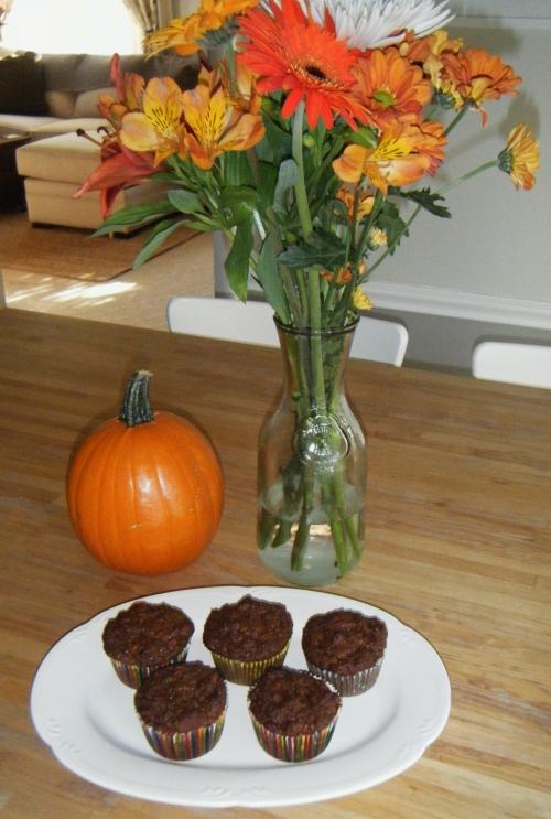 gluten-free pumpkin walnut muffins