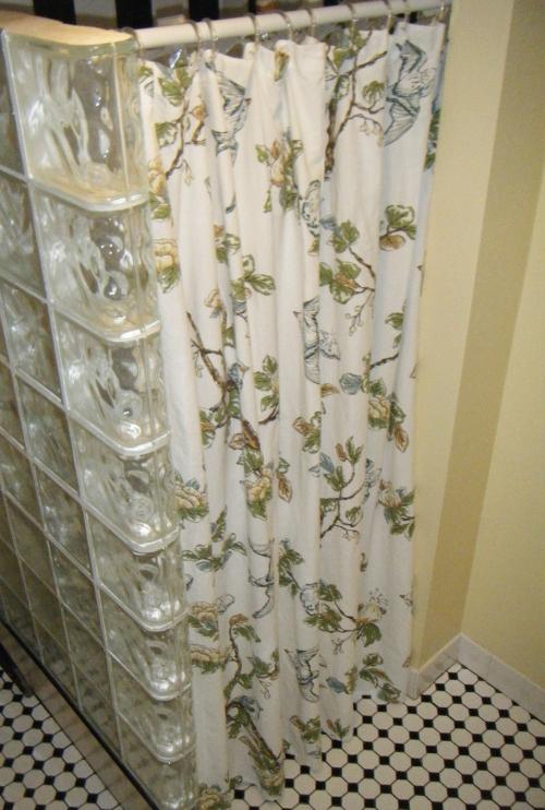 botanical bird shower curtain