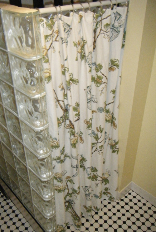 botanical bird shower curtain