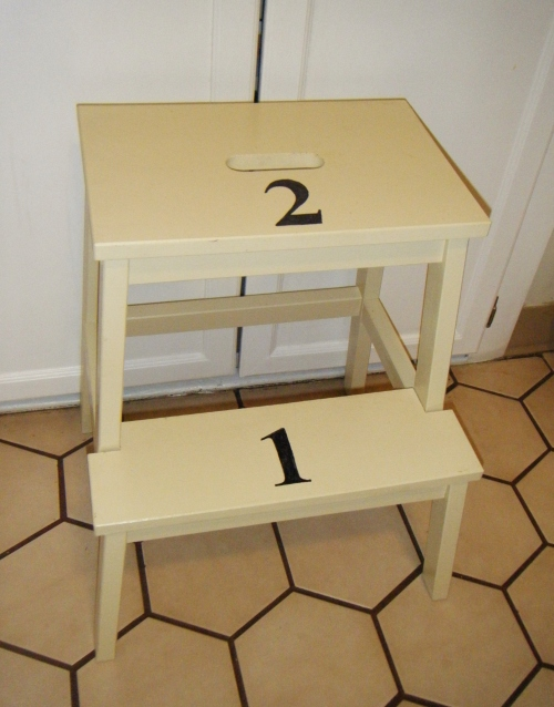 numbered step stool
