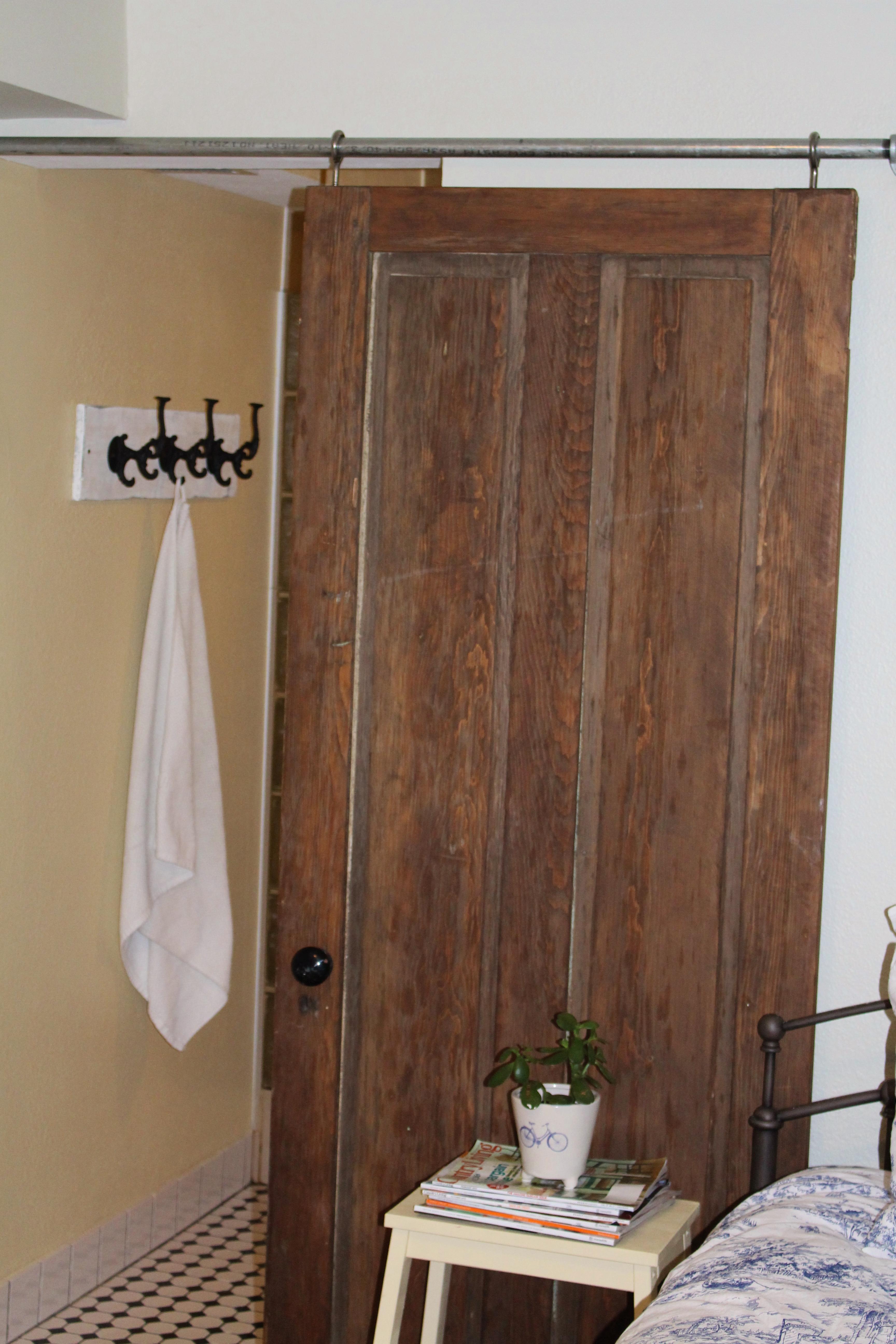 Diy sliding bathroom door - Diy Industrial Sliding Door