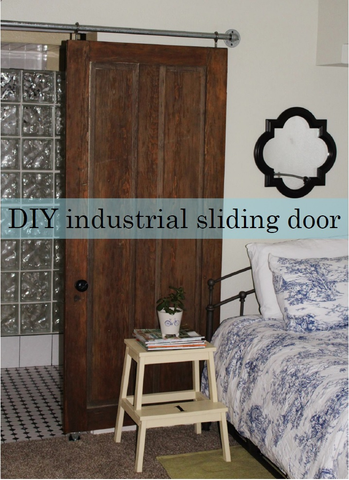 DIY Industrial Sliding Door.
