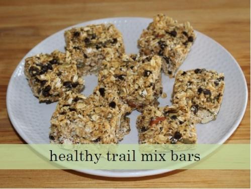 healthy trail mix bars