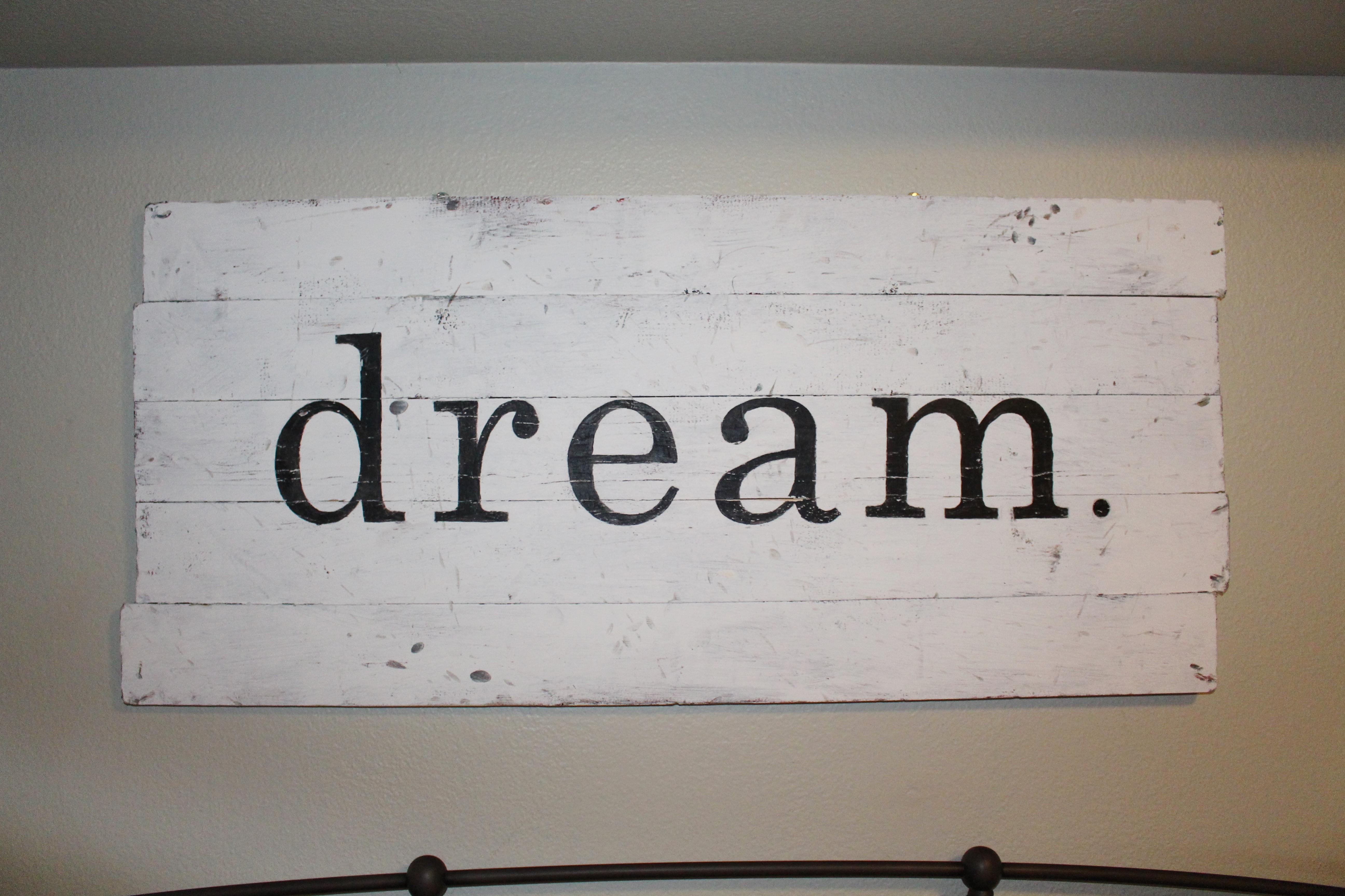 "Dream Wall Art diy ""dream"" wall art.   simply chic."