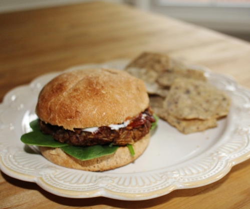 oat pecan burger