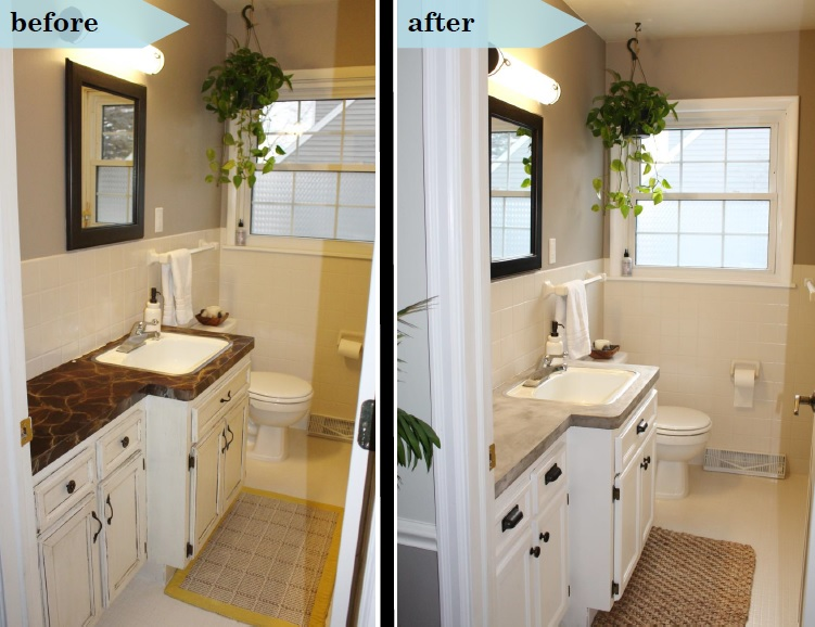 Bathroom Makeover Vanity vanity makeover | simply chic.