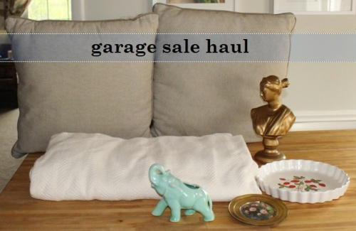 garage sale haul