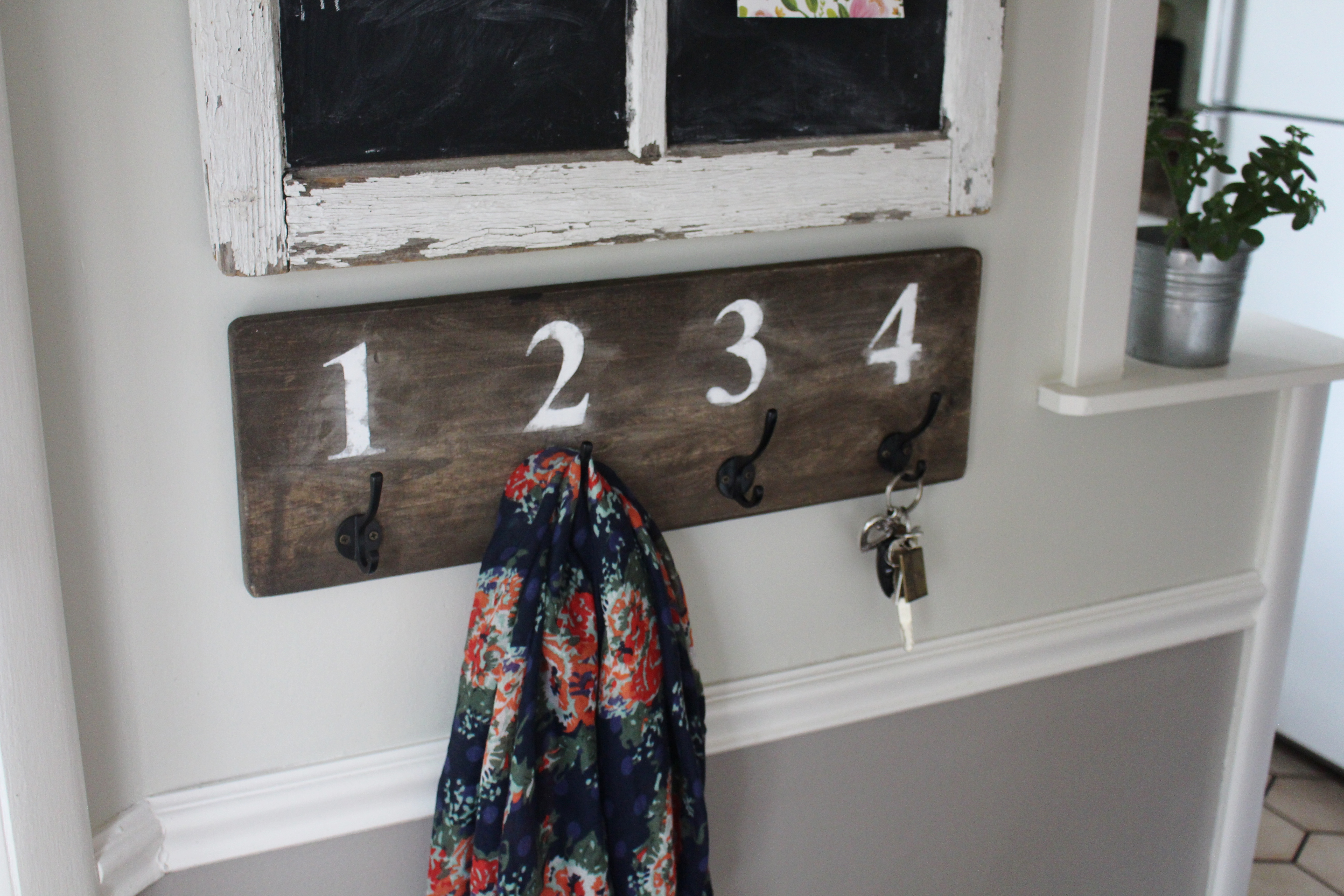 Back Entry   DIY Key/coat Rack Simply Chic.. Full resolution  snapshot, nominally Width 5184 Height 3456 pixels, snapshot with #634740.