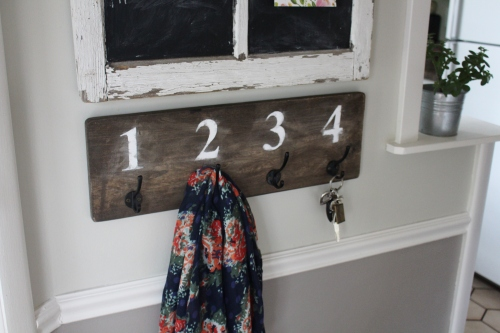 DIY key rack