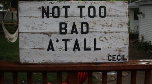 custom made sign