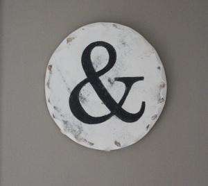 Ampersand wall art