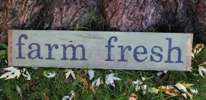 farm fresh sign