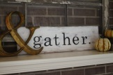 'gather' sign
