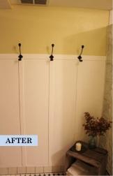 DIY faux board & batten in the guest bathroom