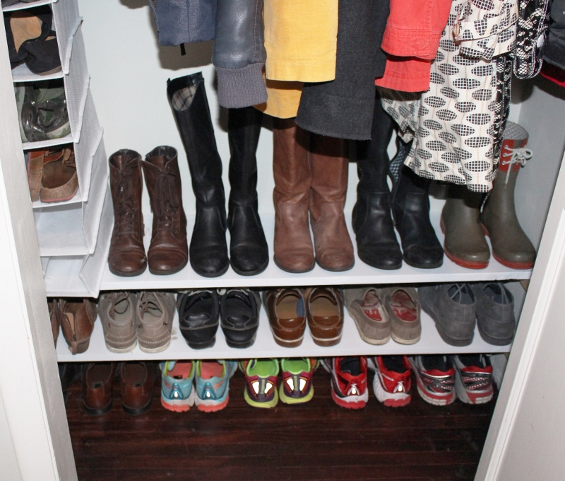 built in shoe shelves simply chic rh simplychicforcheap wordpress com how to make shoe shelf in closet how to make shoe shelves in closet