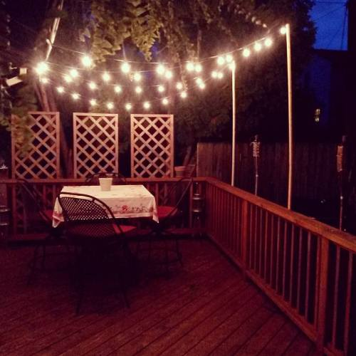 DIY outdoor patio lights