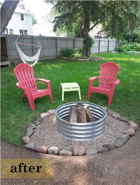 DIY fire pit - after