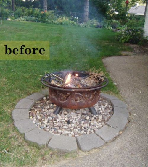 firepit before
