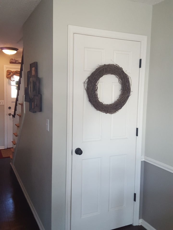 New door knobs + painted hinges