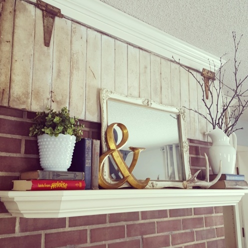 Fireplace mantel - Feb. 2016