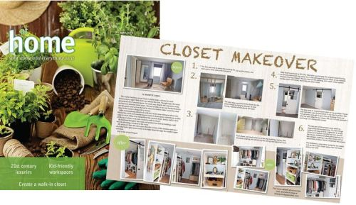 closet makeover in at home magazine