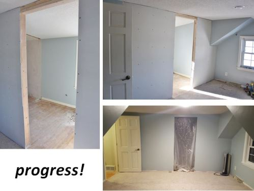 closet makeover progress