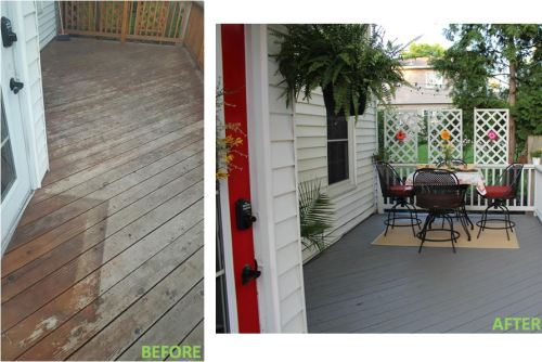 deck - before and after 2