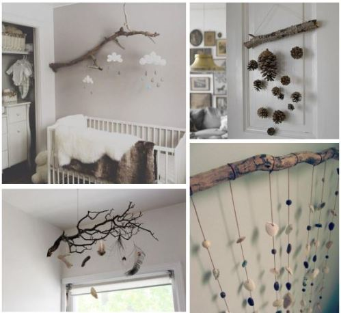 DIY nature-inspired mobiles