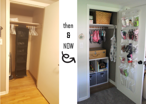 closet then and now