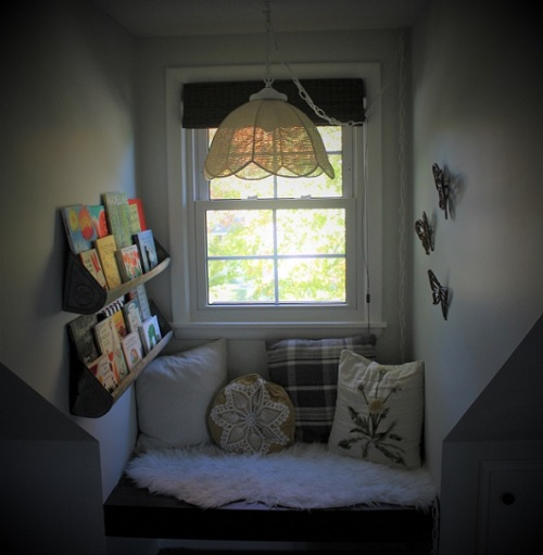 nursery reading nook
