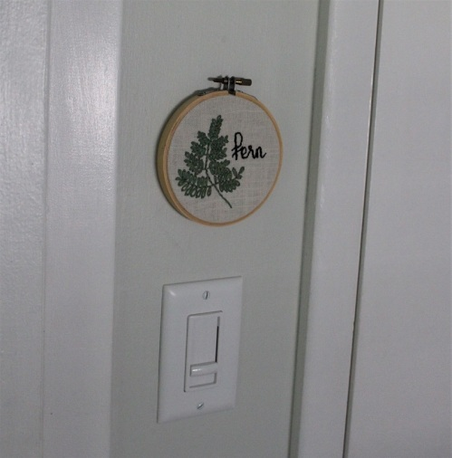 fern embroidery